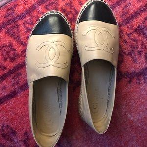 Chanel Lambskin Espadrilles Size 37 worn once